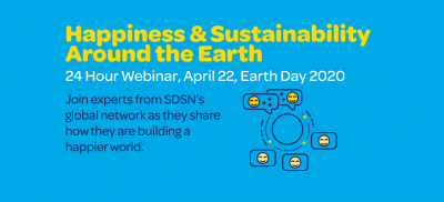 HAPPINESS AND SUSTAINABILITY AROUND THE EARTH 24-HOUR WEBINAR ON 22ND APRIL