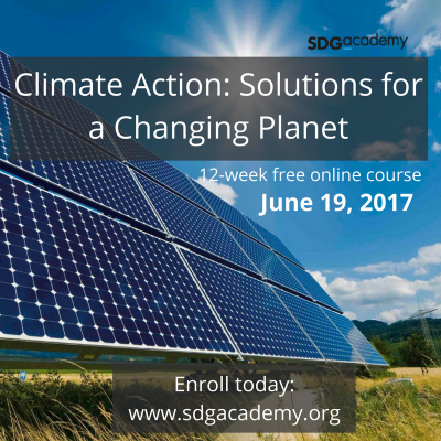 "New SDG Academy Course: ""Climate Action: Solutions for a Changing Planet"". Enroll for free!"